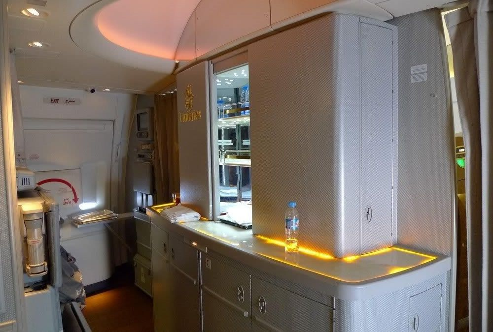 Emirates 777 Onyx Bar Top