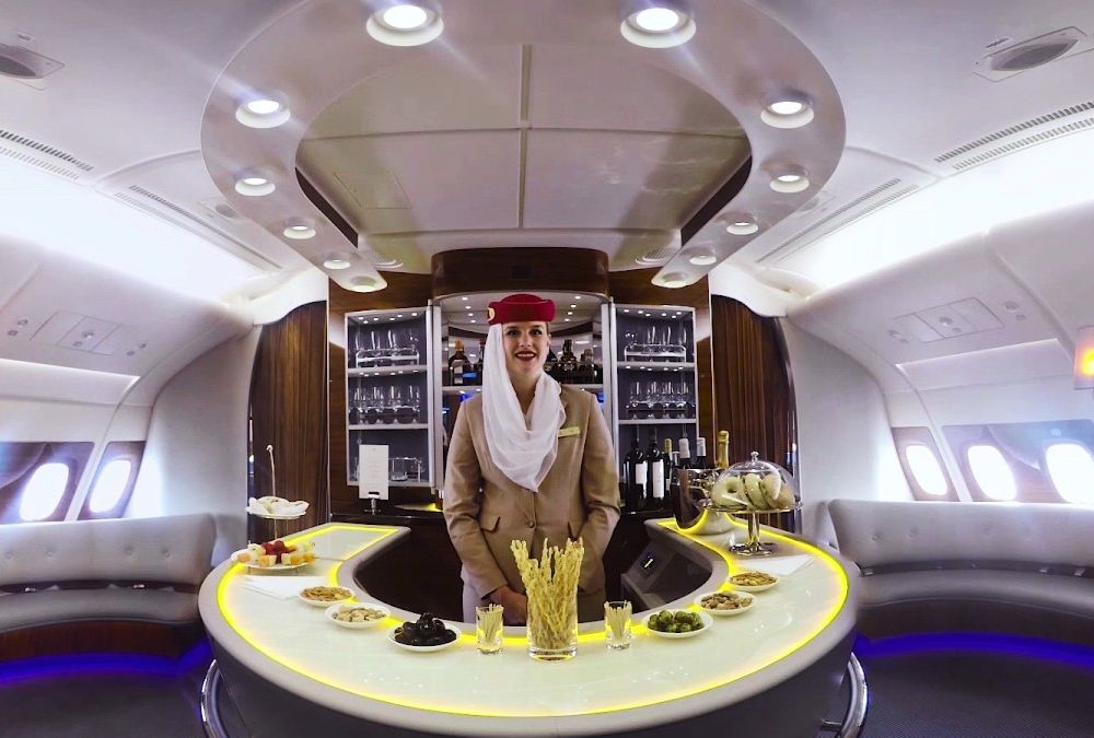 Emirates A380 Stone Bar top