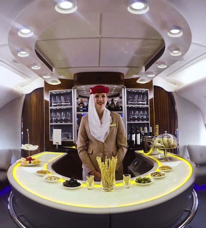 Emirates A380 Stone Bar Top Featured